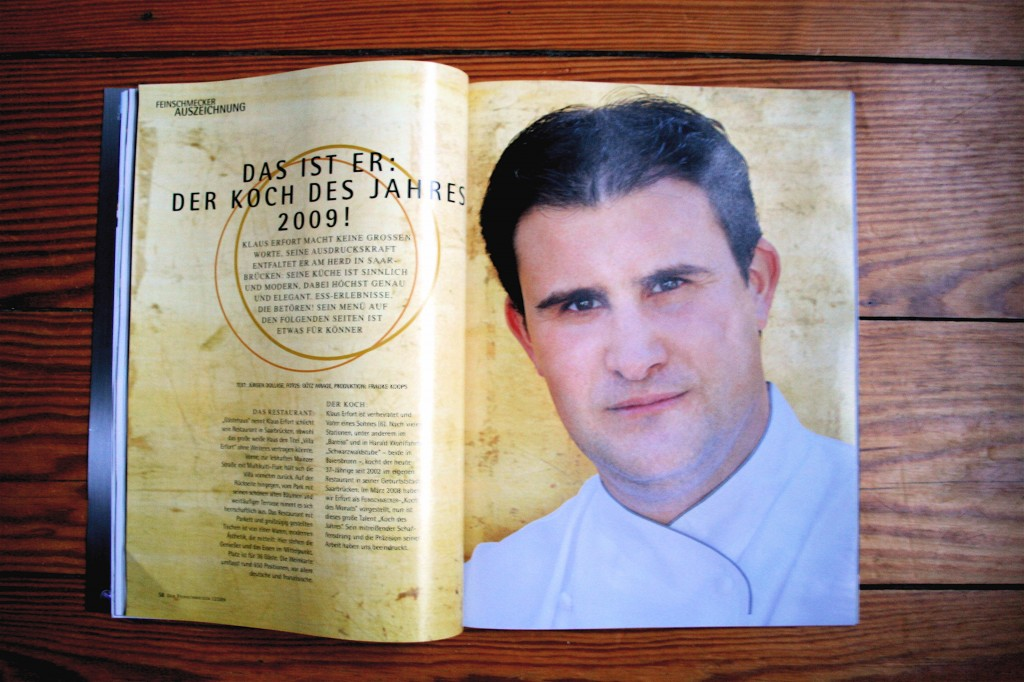 Klaus Erfort ist FEINSCHMECKER Koch des Jahres 2009 – Erinnerung an einen Besuch