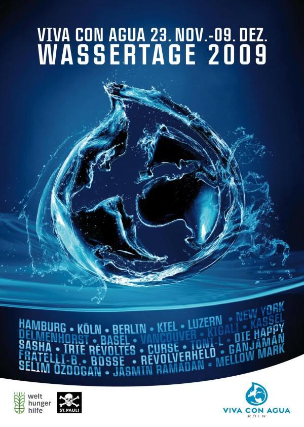 Für sauberes Trinkwasser weltweit: die Viva con Agua WASSERTAGE 2009