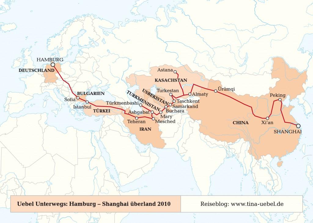 Neues Blog: Uebel unterwegs, von Hamburg nach Shanghai – auf dem Landweg