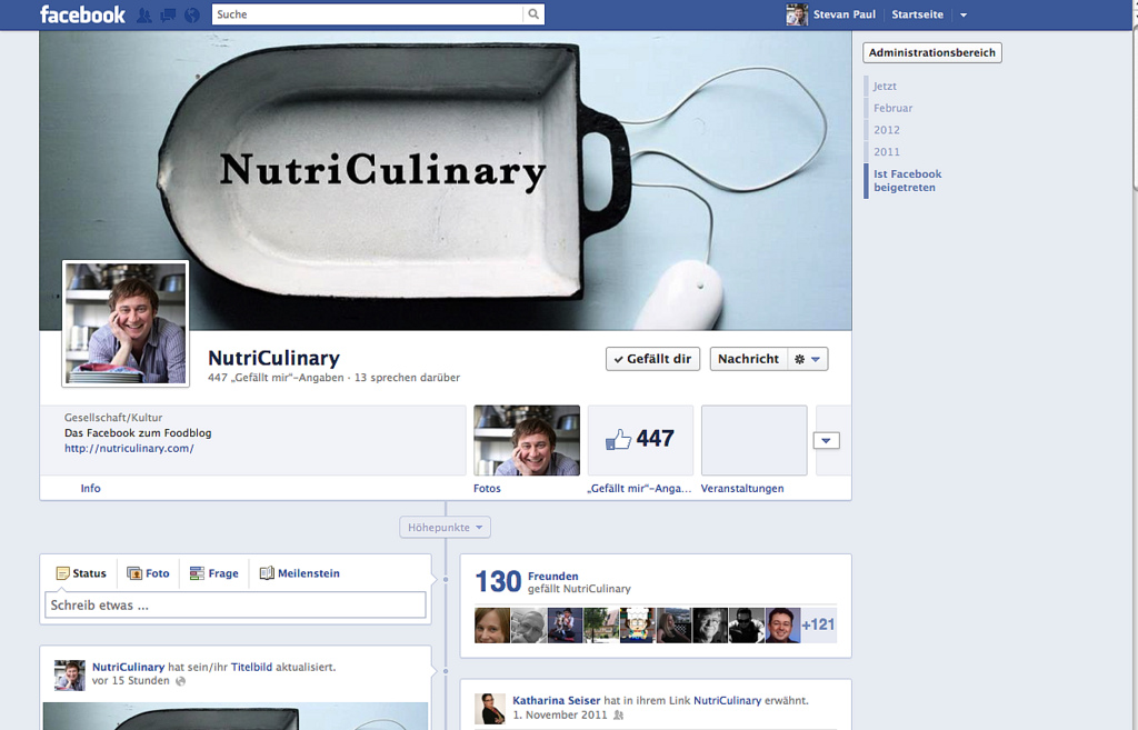 NutriCulinary auf Facebook