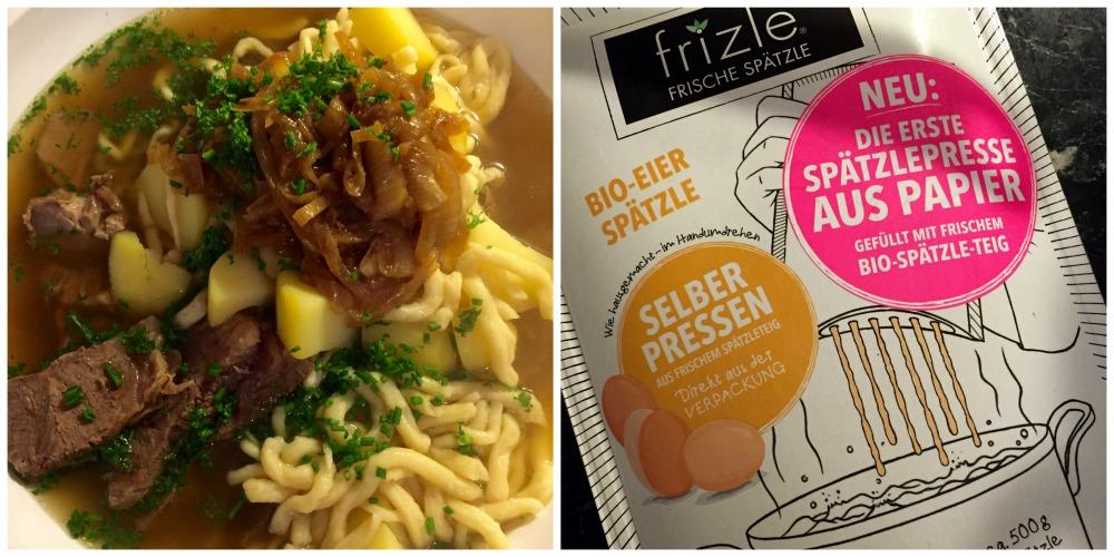 Gaisburger Marsch mit Frizle – Spätzle frisch aus der Packung gepresst (!)