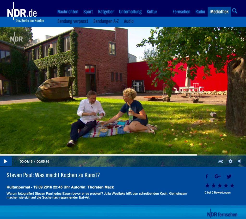 Der große Glander im NDR Kulturjournal