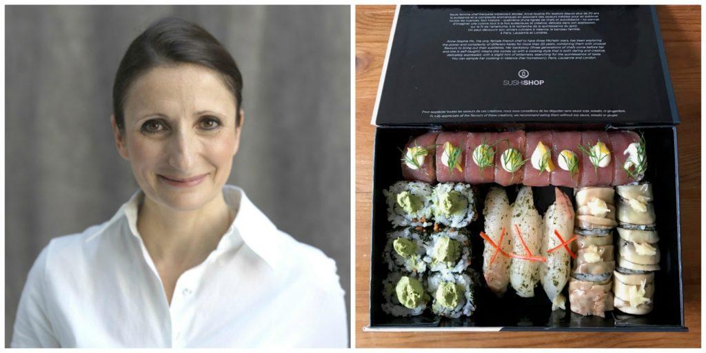 Sushi Shop Hamburg – probiert: vier Sushi-Kreationen der französischen 3 Sterneköchin Anne-Sophie Pic!