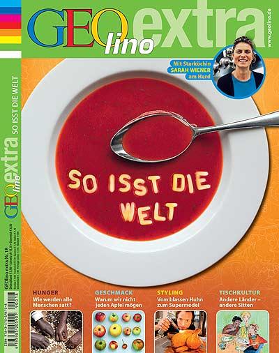 """GEOlino extra """"So isst die Welt""""- Heft mit Haken"""