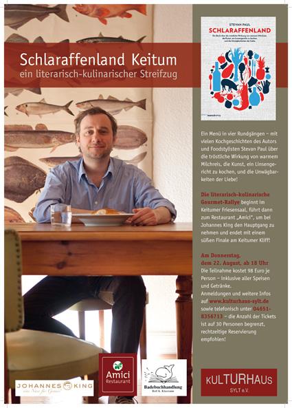 Schlaraffenland, die letzte Lesung: kulinarisch-literarische Sylt-Wanderung in 4 Gängen!