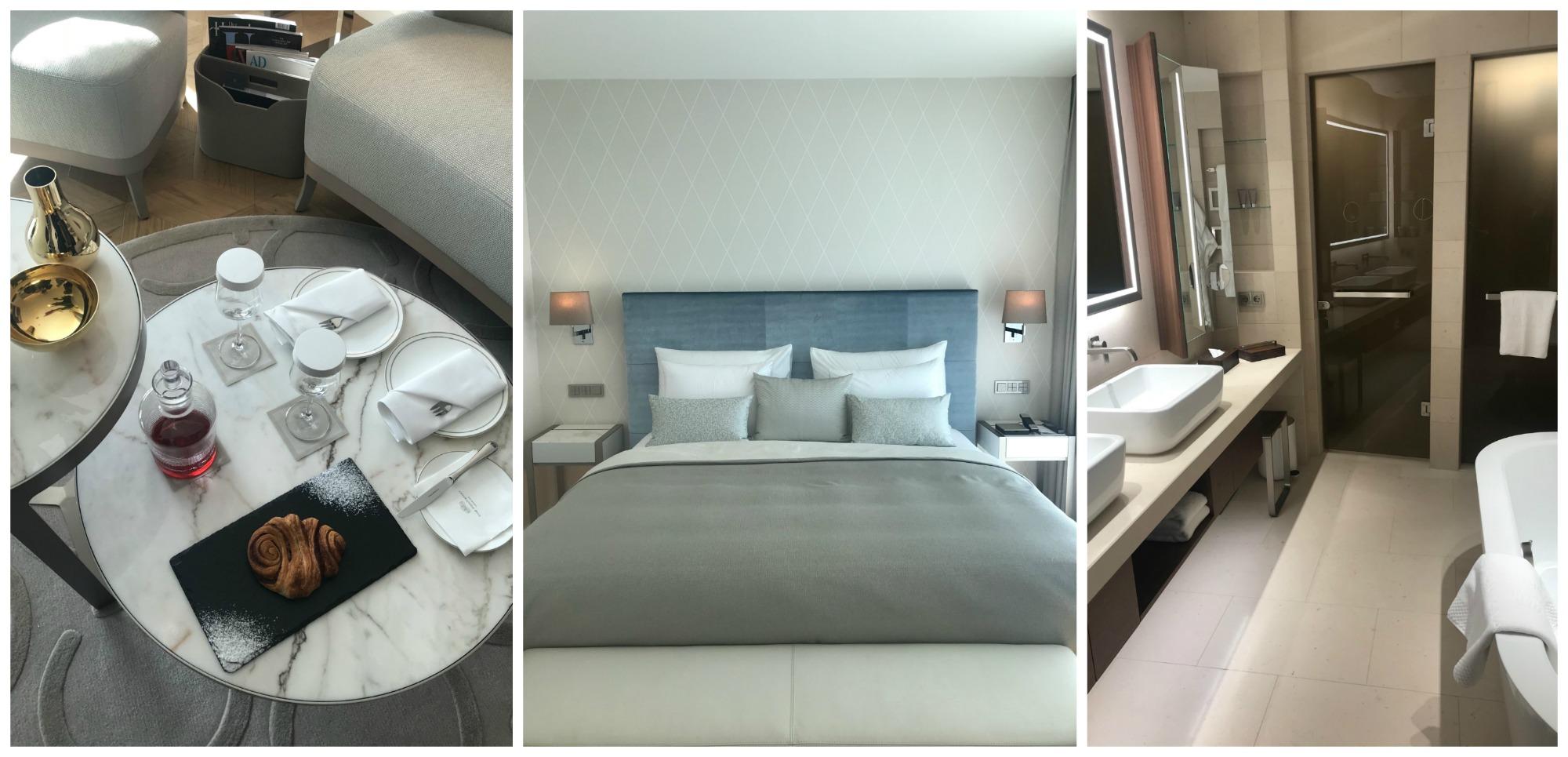 132 Zimmer Und 17 Suiten Hat Das Haus, Jedes Zimmer Mit Balkon Und  Außenblick, Viele Mit Alsterblick, Herz Des Hotels Ist Das 27 Meter Hohe  Atrium Lounge.