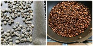Kaffee zuhause selber rösten – zwei Versuche in Pfanne und Ofen